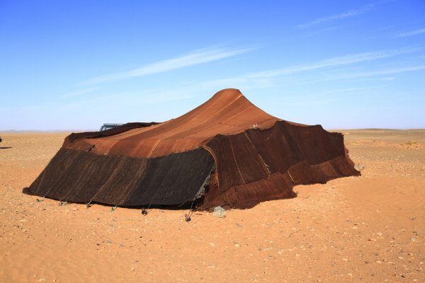 nomad tent in the middle of nowhere